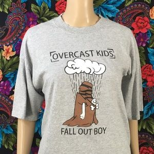 MEN'S FALL OUT BOY BAND SHIRT SIZE XL EMO PUNK POP